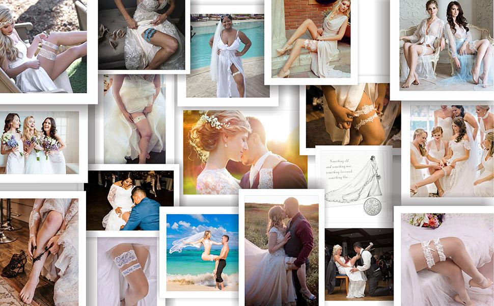 GARGALA Wedding garters for bride, lace bridal garter set