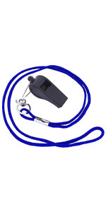 cannon sports black whistle with lanyard for kids and adults sports