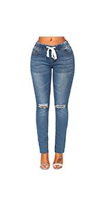 Denim Skinny Ripped Jeans