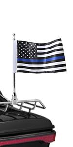 US Thin line Blue Flag