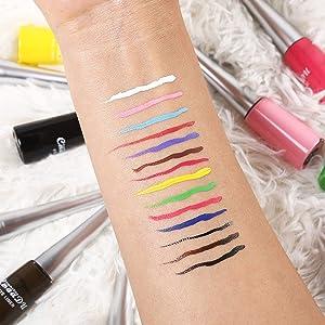 Colorful eye liner