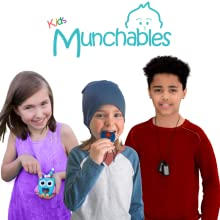 Kids Wearing Munchables Chew Necklaces