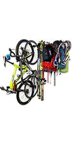 Bicycle Adventure Rack Skis Equipment Storage Garage Organizer Wall