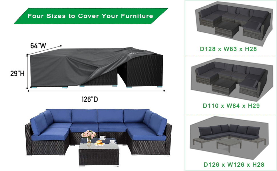 patio furniture cover sectional
