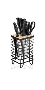 Universal Knife Organizer Storage Stand Kitchen Knife Block Holder