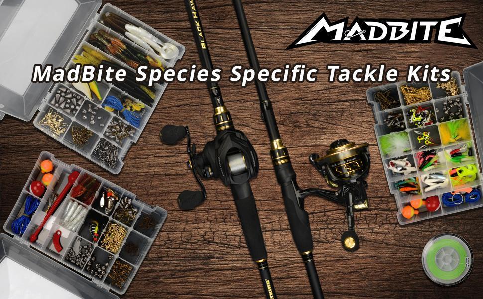 MadBite 187/177/160pcs Species Specific Tackle Kits