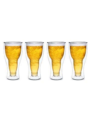 dragon glassware upside down beer glasses set of 4