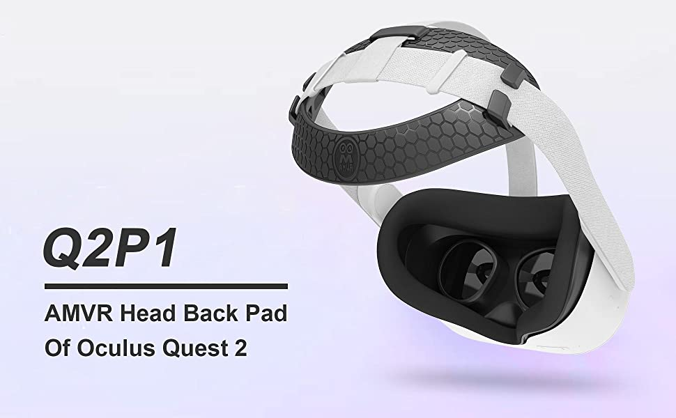 AMVR Head Strap Padding for Oculus Quest 2 headset, replacement for Elite Strap