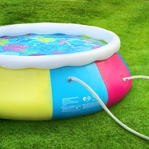 Sable Inflatable Above Ground Swimming Pool 10ft x 30in Fast Set for Kids Adults Backyard Garden