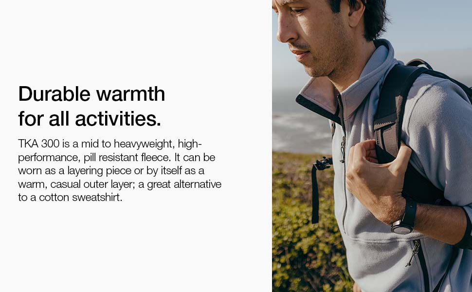 Stay warm in all activities - even when wet. A layering piece for cooler fall and winter months.