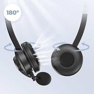 180°Drehbares Lautsprecher headset