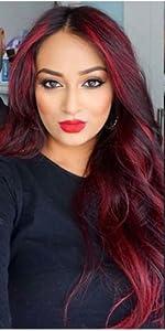 ombre wig highlights 99jamp;amp;amp;amp;amp;red