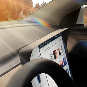 tesla model y screen visor
