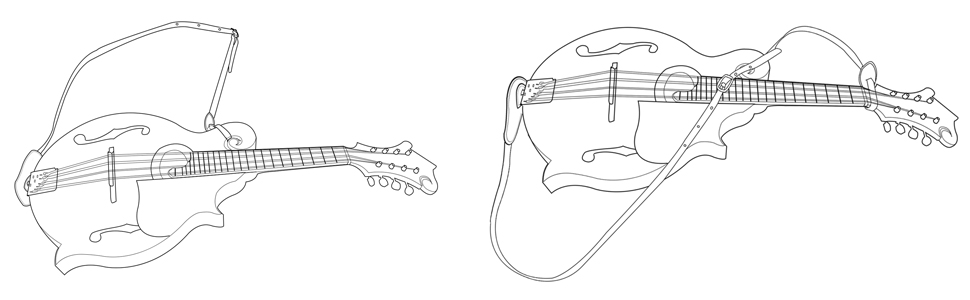 mandolin strap for A and F type