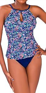 Floral split swimsuit