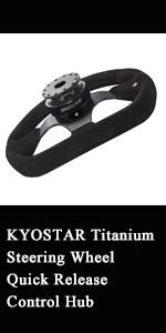 Kyostar titanium steering wheel quick release control hub