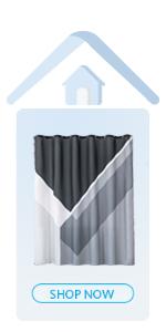black amp; grey shower curtain