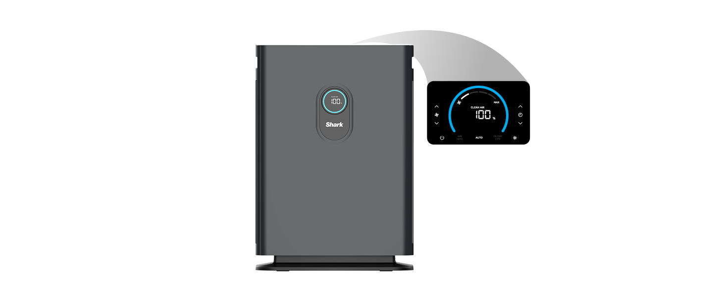 air purifier with top control pannel