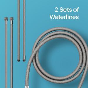 2 sets of waterlines