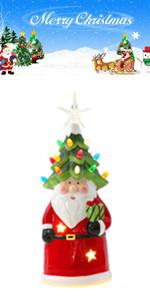 Ceramic Santa Figurine with LED