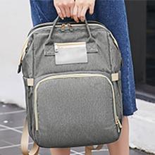 diaper backpack with easy-grab handles