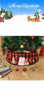 Buffalo Plaid Christmas Tree Collar