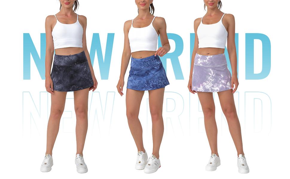 Tie-Dye Tennis Skirt for Women