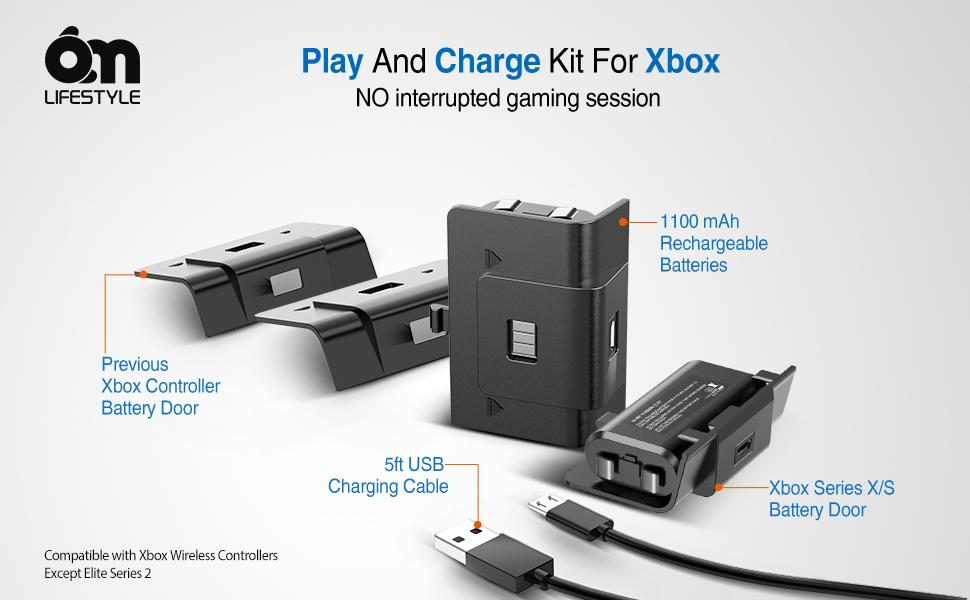 Play and charge kit for Xbox
