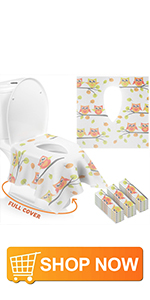 Disposal toilet training seat cover for toddler