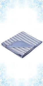 Blue cooling blankets