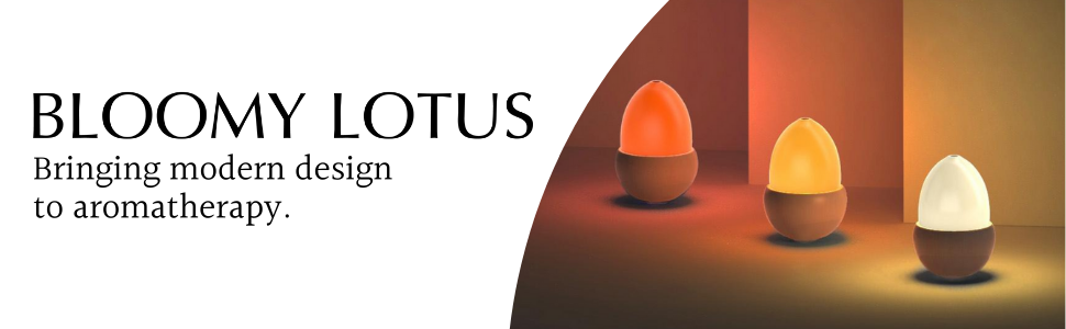 bloomy lotus acorn diffuser modern aromatherapy