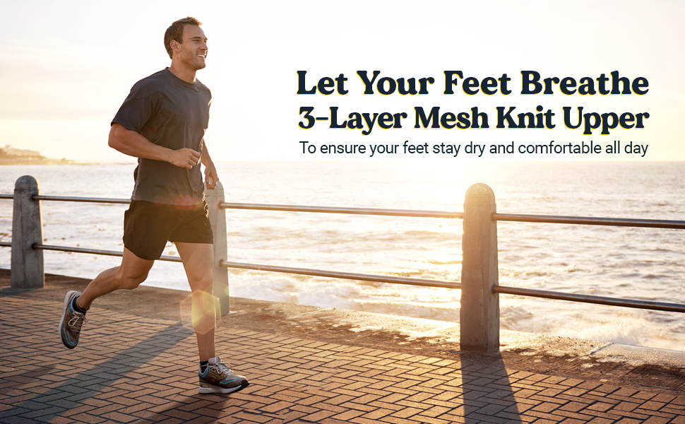 Let your feet breathe running shoes