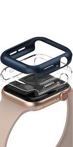 Ringke Slim Compatibel met Apple Watch Serie 6, SE, 5, 4 44mm Case