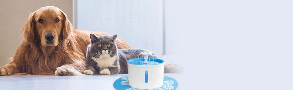BTMETER cat dog water fountain