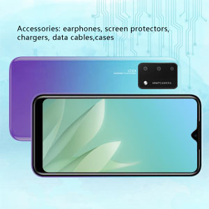 Accessories: earphones, screen protectors, chargers, data cables,cases