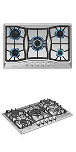 36amp;amp;amp;amp;amp;amp;amp;amp;amp;amp;amp;amp;#34; gas cooktop with 5 burners