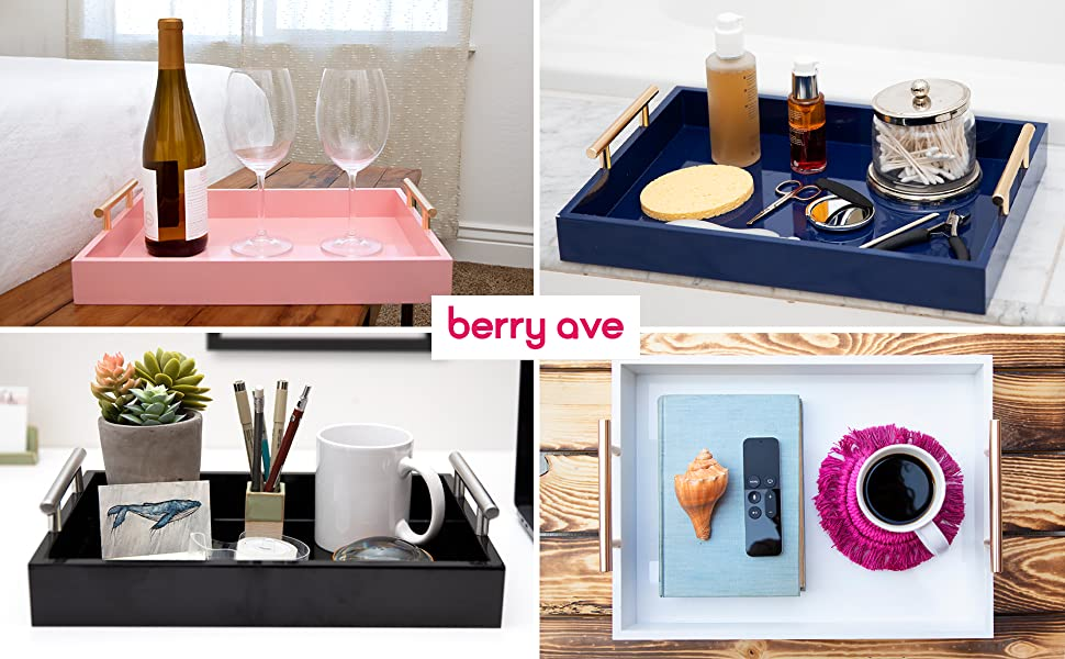 berry ave nesting ottoman trays for home and organization storage