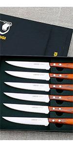 steak knife set brown 150
