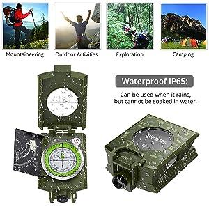 Metal Compass Sighting Clinometer
