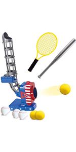 2 in 1 Baseball and Tennis Baseball Pitching Machine
