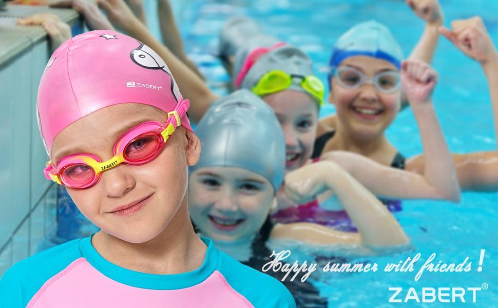 ZABERT C300 Kids Swim Caps