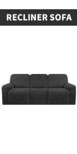 Recliner sofa slipcover