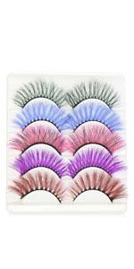 colorful eyelashes 5 pairs pack outopen