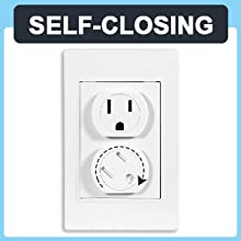 Self-Closing Outlet Covers