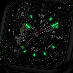 black cheap mechanical watches for men