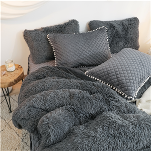 Velvet pillowcase with pompom fringe lace can add more color to your home decor.