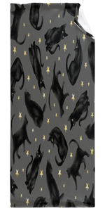Black Cats and Stars Moon Blanket