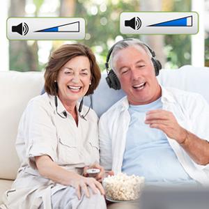 dual tv headphones with volume control