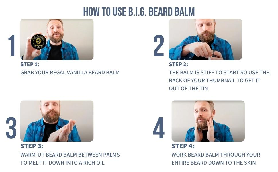 How to use B.I.G. Beard Balm. Beard Softener helps style and tame beard hair.
