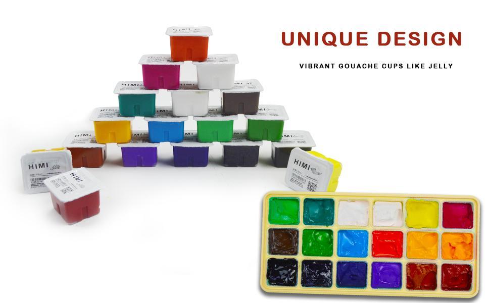 jelly design gouache paint